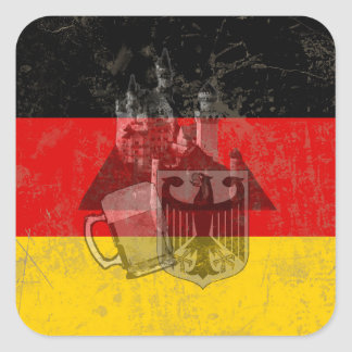 Flag and Symbols of Germany ID152 Square Sticker