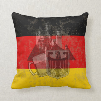 Flag and Symbols of Germany ID152 Throw Pillow