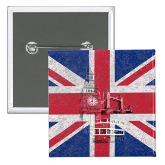 Flag and Symbols of Great Britain ID154 Button