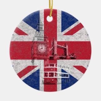 Flag and Symbols of Great Britain ID154 Ceramic Ornament