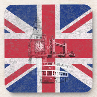 Flag and Symbols of Great Britain ID154 Drink Coaster