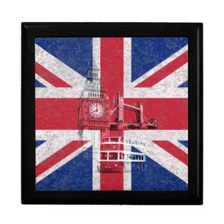 Flag and Symbols of Great Britain ID154 Keepsake Box