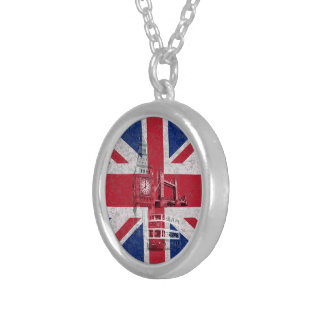 Flag and Symbols of Great Britain ID154 Round Pendant Necklace