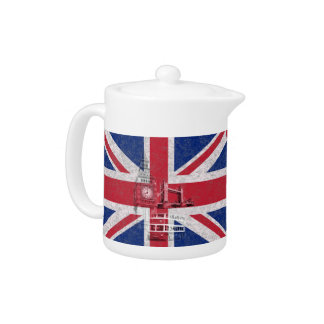 Flag and Symbols of Great Britain ID154 Teapot