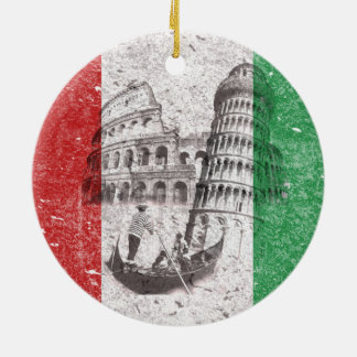 Flag and Symbols of Italy ID157 Ceramic Ornament