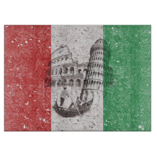 Flag and Symbols of Italy ID157 Cutting Board