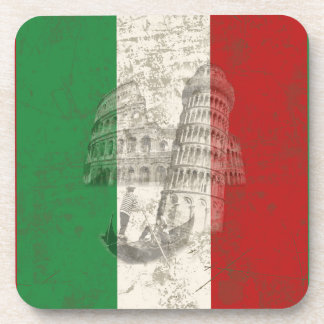 Flag and Symbols of Italy ID157 Drink Coaster