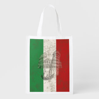 Flag and Symbols of Italy ID157 Grocery Bag