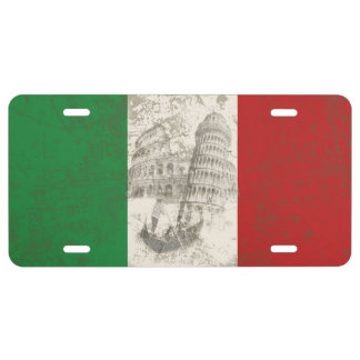 Flag and Symbols of Italy ID157 License Plate