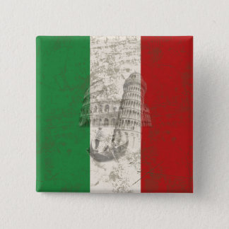 Flag and Symbols of Italy ID157 Pinback Button