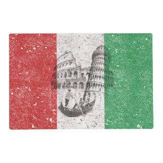 Flag and Symbols of Italy ID157 Placemat