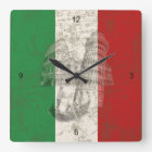 Flag and Symbols of Italy ID157 Square Wall Clock