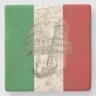 Flag and Symbols of Italy ID157 Stone Coaster