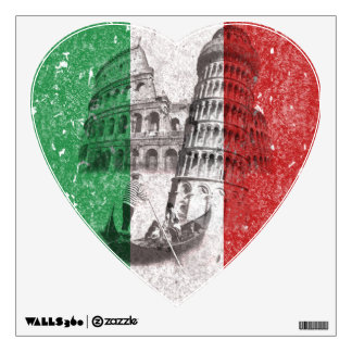 Flag and Symbols of Italy ID157 Wall Decal
