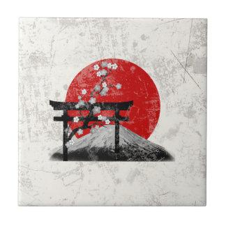Flag and Symbols of Japan ID153 Ceramic Tile