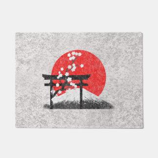 Flag and Symbols of Japan ID153 Doormat