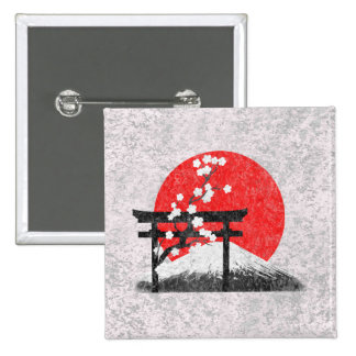Flag and Symbols of Japan ID153 Pinback Button