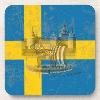 Flag and Symbols of Sweden ID159 Coaster