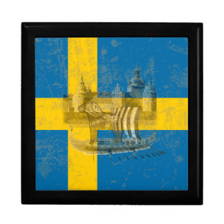 Flag and Symbols of Sweden ID159 Jewelry Box