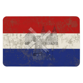 Flag and Symbols of the Netherlands ID151 Magnet