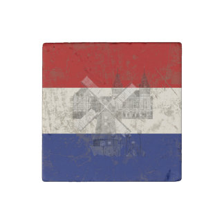 Flag and Symbols of the Netherlands ID151 Stone Magnet