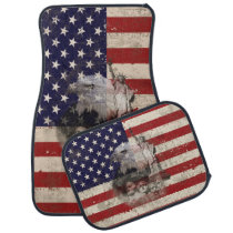 Flag and Symbols of United States ID155 Car Floor Mat