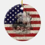 Flag and Symbols of United States ID155 Ceramic Ornament
