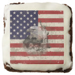 Flag and Symbols of United States ID155 Chocolate Brownie