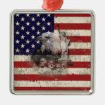 Flag and Symbols of United States ID155 Metal Ornament