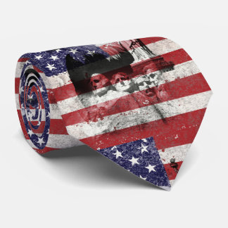 Flag and Symbols of United States ID155 Neck Tie
