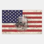 Flag and Symbols of United States ID155 Rectangular Sticker