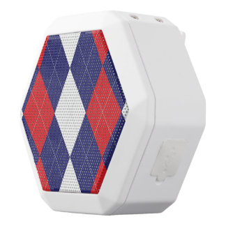 Flag Argyle Boombot White Bluetooth Speaker