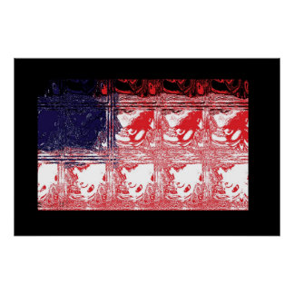 Flag as Glass Boxes Poster