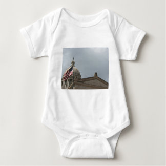 Flag at State Capital Oklahoma City Baby Bodysuit