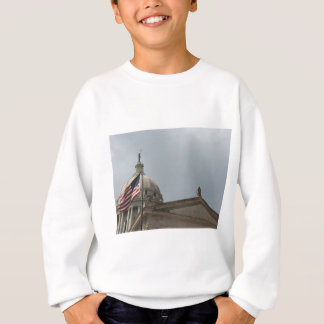 Flag at State Capital Oklahoma City Sweatshirt