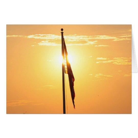 Flag at Sunrise Card