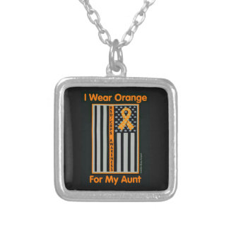 Flag/Aunt...RSD/CRPS Silver Plated Necklace