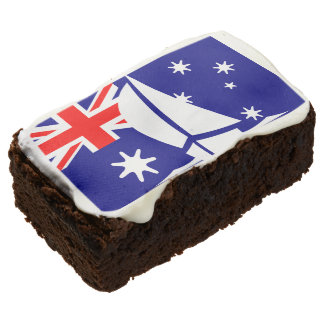 Flag Australia Nautical Australian Yacht Sailing Chocolate Brownie