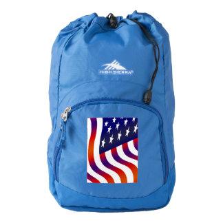 flag banner patriotic stars stripes freedom honor high sierra backpack