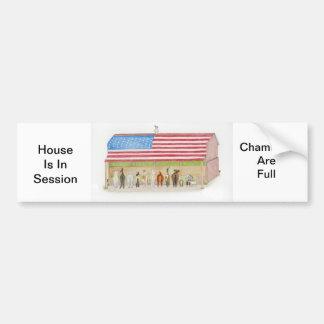 Flag Barn Car Bumper Sticker