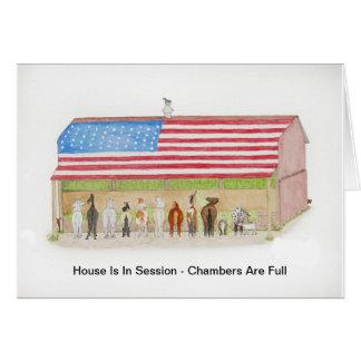 Flag Barn Card