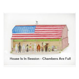 Flag Barn Postcard