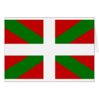 Flag Basque Country euskadi Card