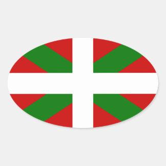 Flag Basque Country euskadi Oval Sticker