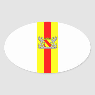 Flag bathing coat of arms of Baden Oval Sticker