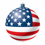 Flag bauble ornament acrylic cut out
