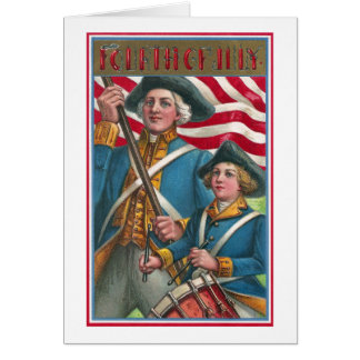 Flag Bearer and Drummer Boy Card
