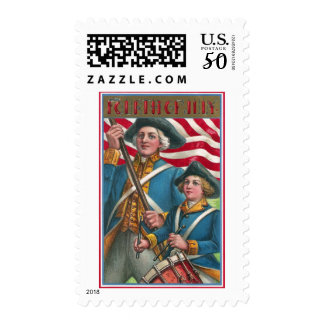 Flag Bearer and Drummer Boy Postage