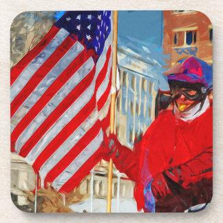 Flag Bearer on Horseback Coaster