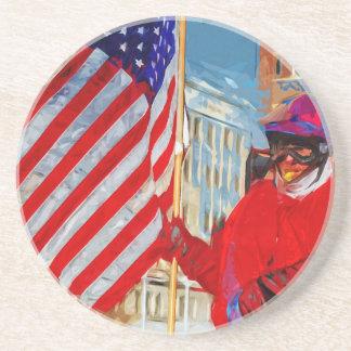 Flag Bearer on Horseback Drink Coaster
